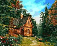 Картина по номерам Домик на опушке леса (MR-Q2205) 40 х 50 см Mariposa