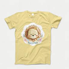 Детская футболка с принтом. Lion Babi. Хлопок 100%. Размеры от 3 до 12 лет