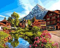 Картина по номерам Альпийский городок (VP1147) 40 х 50 см DIY Babylon
