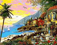 Картина по номерам Городок в лучах заката (VP1149) 40 х 50 см DIY Babylon
