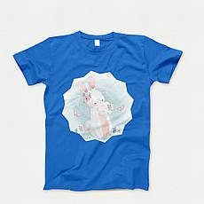 Детская футболка с принтом. Rabbit Babi. Хлопок 100%. Размеры от 3 до 12 лет