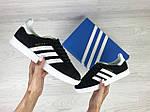 Женские кроссовки Adidas Gazelle (черно-белые), фото 2