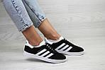 Женские кроссовки Adidas Gazelle (черно-белые), фото 4