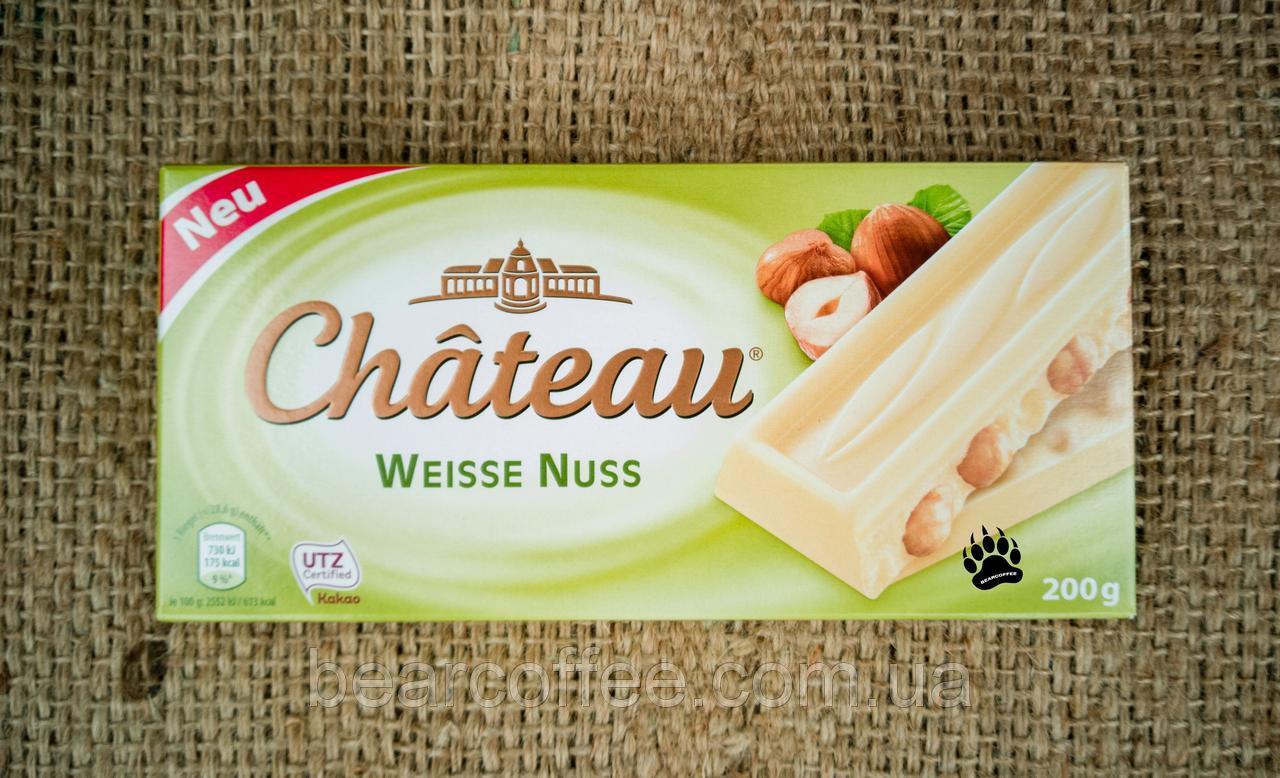 Белый шоколад Chateau Weisse Nuss -с лесными орехами 200гр. Германия