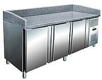 Стол для пиццы трёх дверный, гранитная поверхность BERG