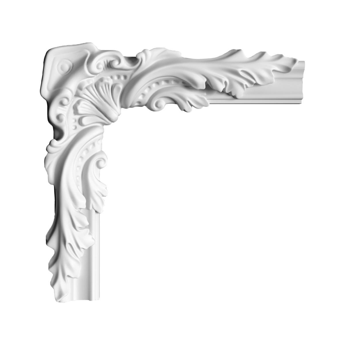 Гипсовая лепнина декоративный угол у-93 h300х300мм