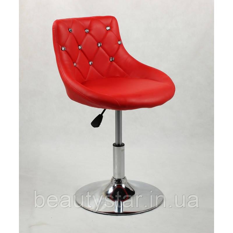 Кресло для клиентов, парикмахерское кресло на пневматике Хокер 931N красный