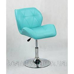 Парикмахерское кресло, Кресло для клиента маникюра, администратора Хокер HC111N бирюзовый