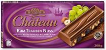 Молочный шоколад с изюмом и дробленым лесным орехом Chateau Rum Trauben Nuss 200гр. Германия