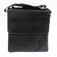 Мужская плечевая сумка черная (052).