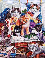 "Картина по номерам ""Котята"" 50*65см в коробке"