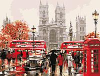 """Картина по номерам """"Улицами Лондона"""" 50*65см в коробке"""