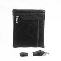 Мужская плечевая сумка черная № 830.