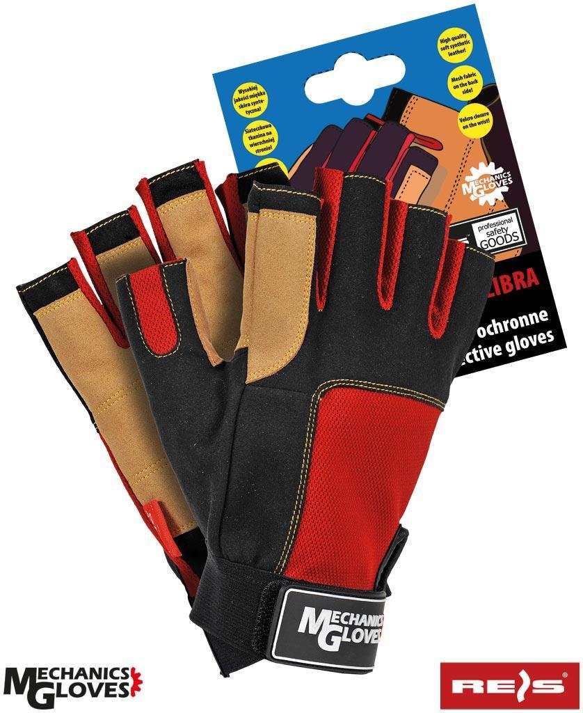 Перчатки для фитнеса RMC-LIBRA BCY без пальцев Reis Польша