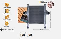 Радиатор интеркуллера  Iveco Stralis AD, AT [02р.--], Trakker [02р.--] Ивеко 504015564 гарантия 18 месяцев