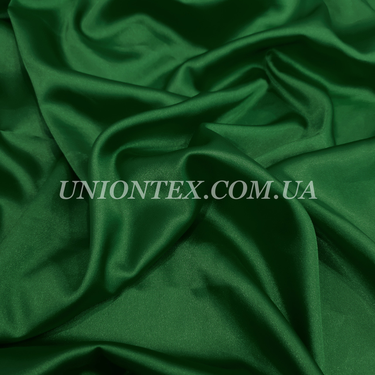 Ткань атлас стрейч темно-зеленый бутылка