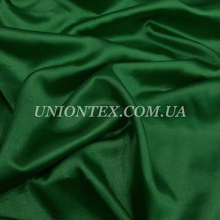 Ткань атлас стрейч темно-зеленый бутылка, фото 2