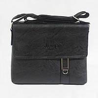 Мужская плечевая сумка черная № 902.