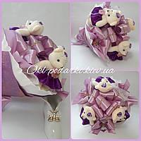 Букет из игрушек Фиолетовый