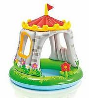 """Детский надувной бассейн """"Дворец"""" INTEX с навесом, 122х122 см, 68л, от 1 до 3 лет отличный ПОДАРОК для малыша"""
