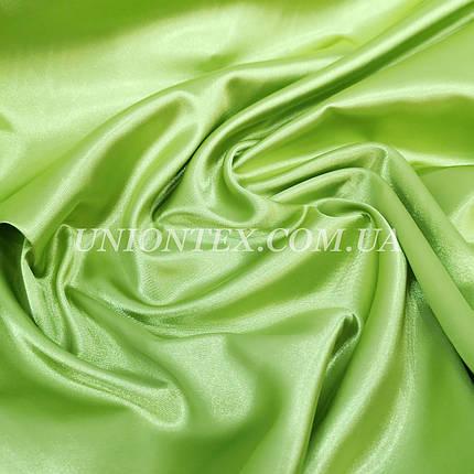 Ткань атлас стрейч оливковый, фото 2