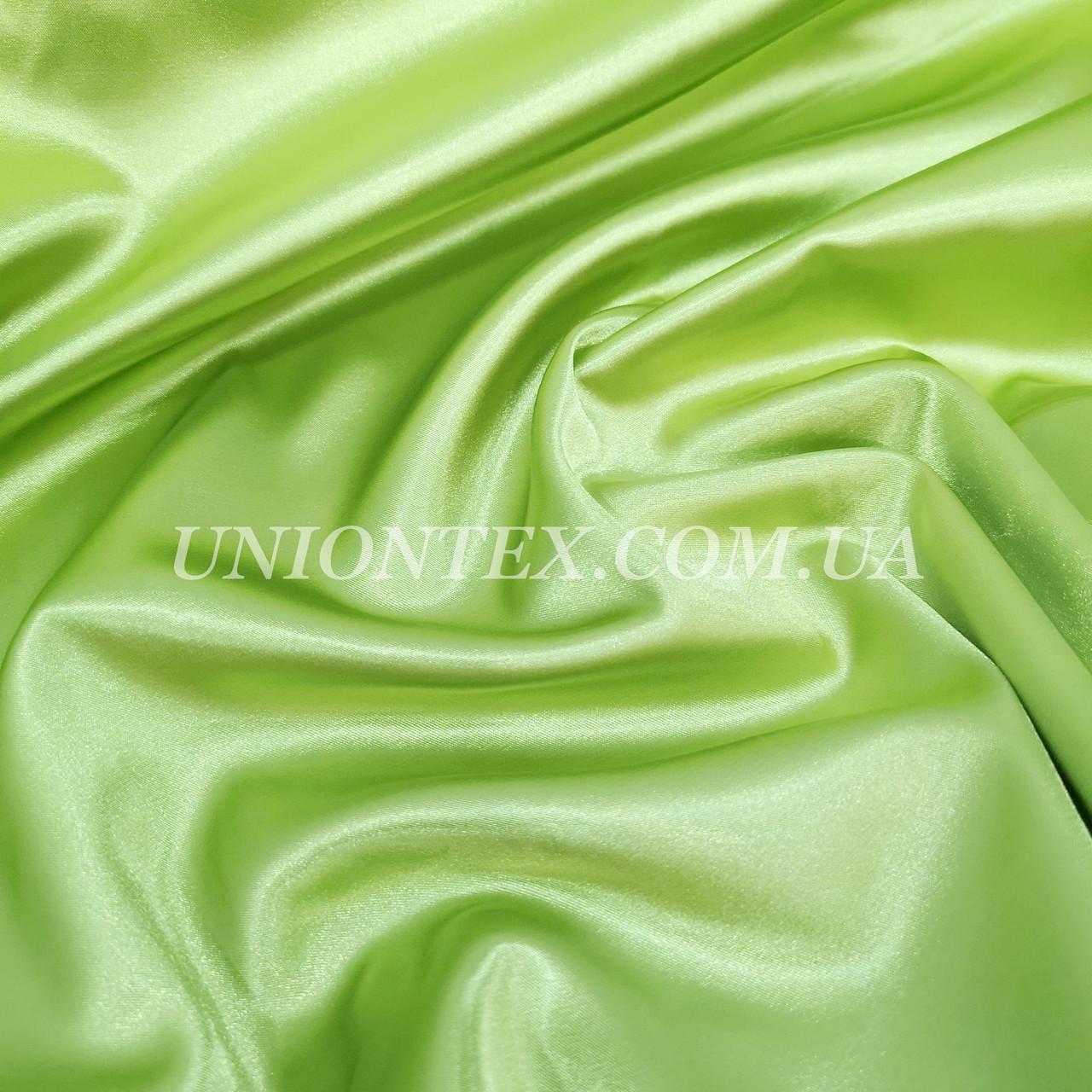 Ткань атлас стрейч оливковый