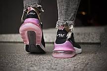 """Кроссовки Nike Air Max 270 """"Черные\Розовые"""", фото 3"""