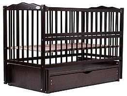 Ліжко Babyroom Веселка маятник, ящик, відкидний пліч DVMYO-3 бук венге