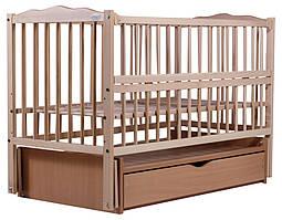 Ліжко Babyroom Веселка маятник, ящик, відкидний пліч DVMYO-3 бук світлий (натуральний)