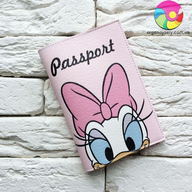 Обложка для паспорта Дейзи Дак