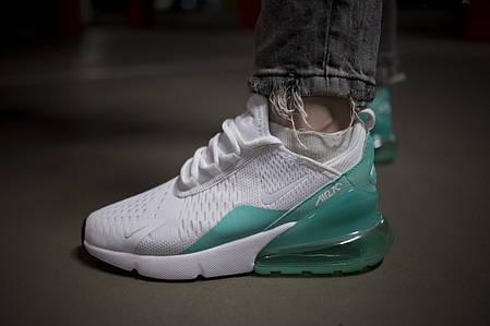 """Кроссовки Nike Air Max 270 """"Белые\Голубые"""", фото 2"""