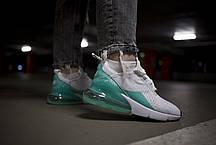 """Кроссовки Nike Air Max 270 """"Белые\Голубые"""", фото 3"""
