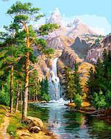 Картина по номерам 40×50 см. Горный водопад, фото 1