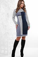Платье-туника женское вязаное «Мирабель» (44-48 | Терракотовое, серое, пудра, марсала, синее)