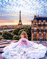 Картина по номерам 40×50 см. Утро в Париже Вера Брежнева Фотохудожник Кристина Макеева