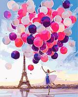 Картина по номерам 40×50 см. Париж Фотохудожник Кристина Макеева