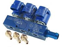 Газовые форсунки Hercules Blue 2 Ом 3 цилиндра