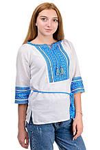 Вышиванка женская белая с коротким рукавом 3/4 р-ры 42 - 52