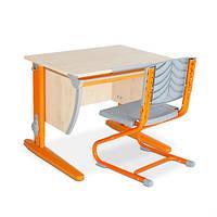Детская парта трансформер ДЕМИ СУТ 12-00 (14-00) +стул Деми Оранжевая