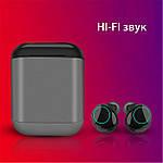 Wi-pods S7 Bluetooth 5.0 наушники беспроводные водонепроницаемые с зарядным чехлом-кейсом. Металлик Оригинал, фото 9