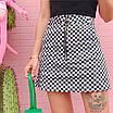 Трендовая юбка в шашечку с молнией кольцом, фото 8