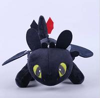 Мягкая игрушка Dragon Дракон Беззубик Ночная фурия Как приручить дракона 34 см 00023