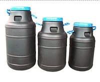 Бочка (бидон) для технических жидкостей 60л черная, ф-240 мм, 360х680