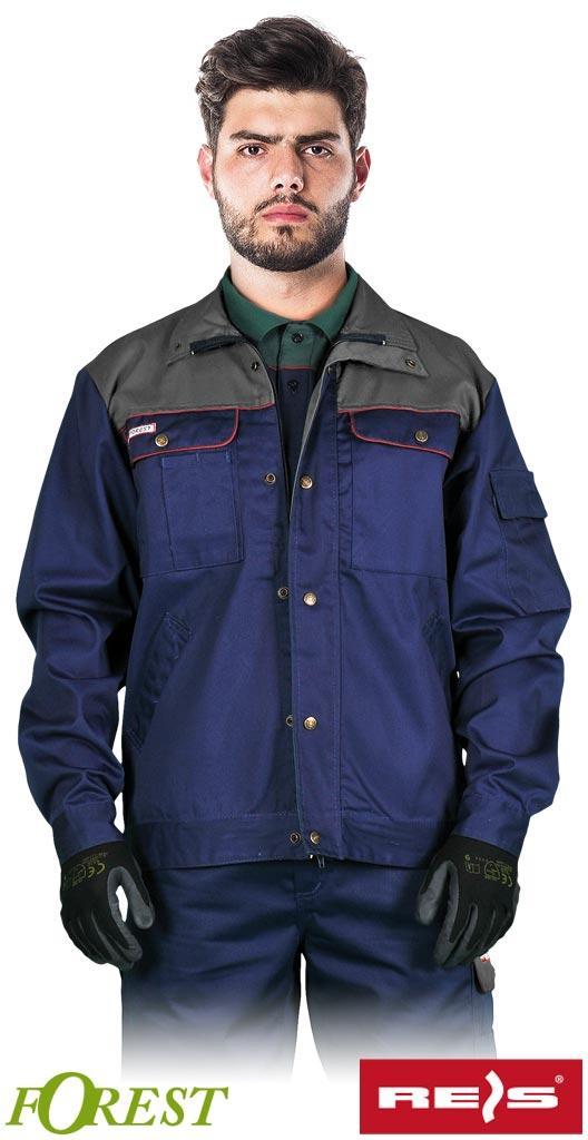 Куртка BF GS рабочая прочная мужская темно-синяя REIS Польша (рабочая униформа)