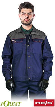 Куртка BF GS рабочая прочная мужская темно-синяя REIS Польша (рабочая униформа) , фото 2