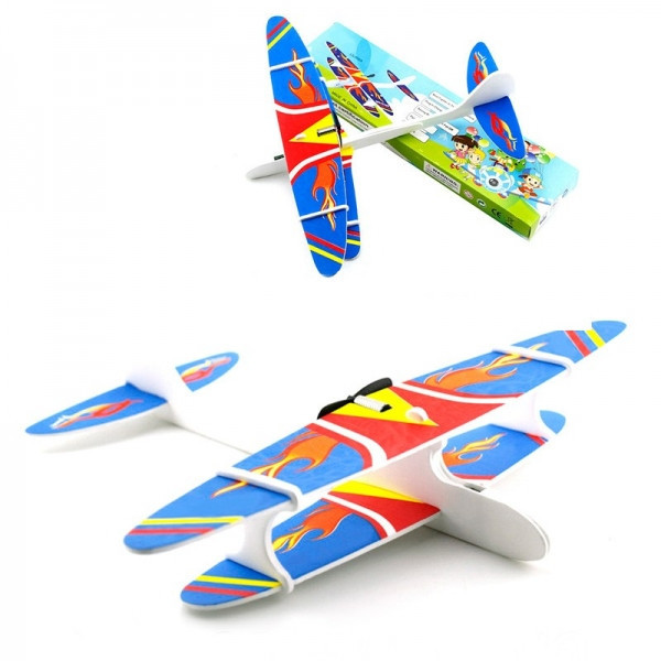 Игрушка метательный самолет-планер Airkraft с электромотором и пропеллером LSJ006A