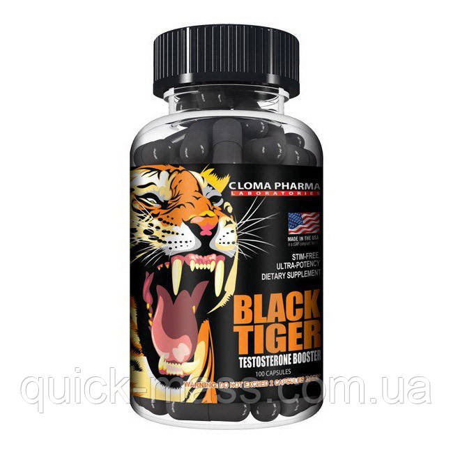 Тестобустер Black Tiger Cloma Pharma 100caps