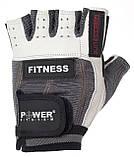 Перчатки для фитнеса PowerSystem FITNESS PS-2300 GREY/WHITE  размер XS, фото 3