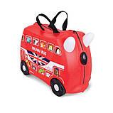 Чемоданчик Trunki Boris Bus на 4 колесах (18 л. + наклейки в подарок), фото 7