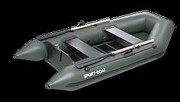 Надувная моторная лодка со сланевым дном Discovery DM260S (весло деревянные,слань-4 секций)